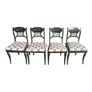 Vintage Hand Painted Chairs - Set of 4
