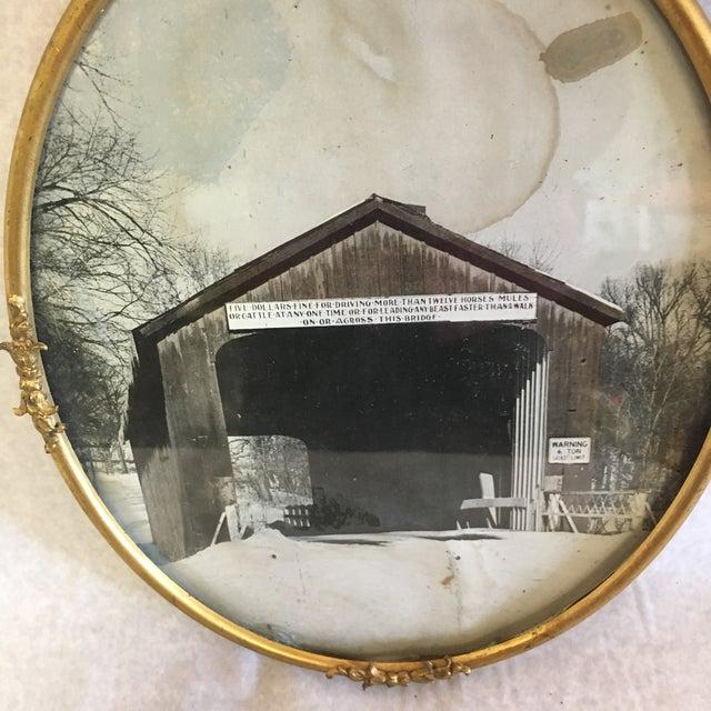 Mid-Century Modern Vintage Brass Picture Frame For Sale - Image 3 of 6