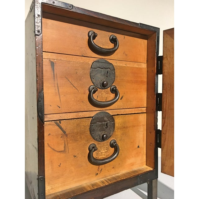 Cast Iron Japanese Meiji Period Ship Chest, Fune Tansu, dated 1883 For Sale - Image 7 of 11
