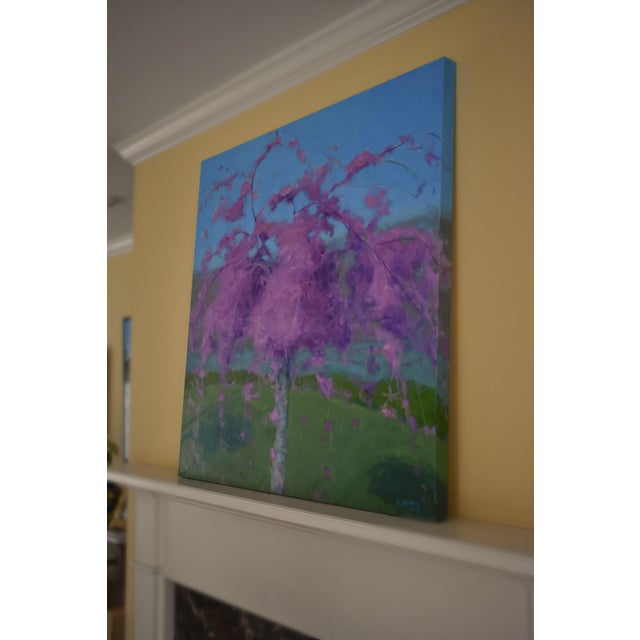 2010s Weeping Cherry Tree Painting by Stephen Remick For Sale - Image 5 of 11