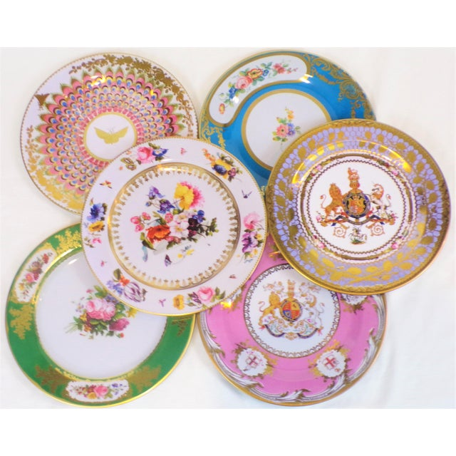 2010s Enamaled Tin English Plates - Set of 6 For Sale - Image 5 of 6