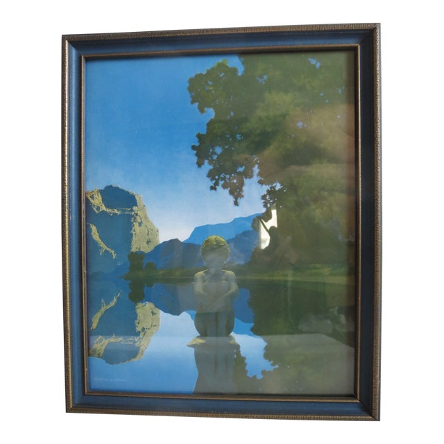 1920s Vintage Maxfield Parrish 'Evening' Reinthal & Newman Framed Print in Period Frame For Sale