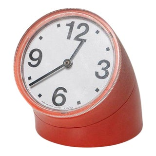 """Cronotime"" Desk Clock by Pio Manzu' for RItz Italora For Sale"