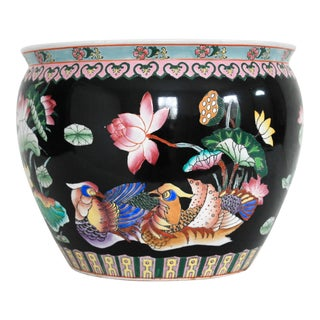 Large Vintage Asian Planter For Sale