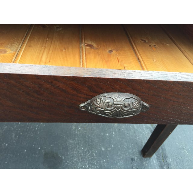 Antique French Farm Table With Drawers For Sale - Image 9 of 13