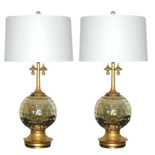 Vintage Mercury Glass Table Lamps Champagne For Sale