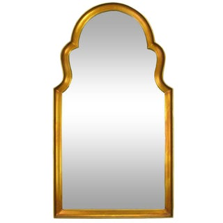 "44"" Tall Moorish Style Gilt Wood And Gesso Mirror For Sale"