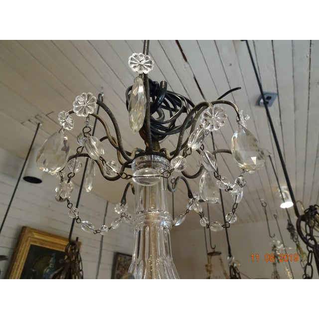 Small Vintage French Crystal Chandelier For Sale In New Orleans - Image 6 of 13