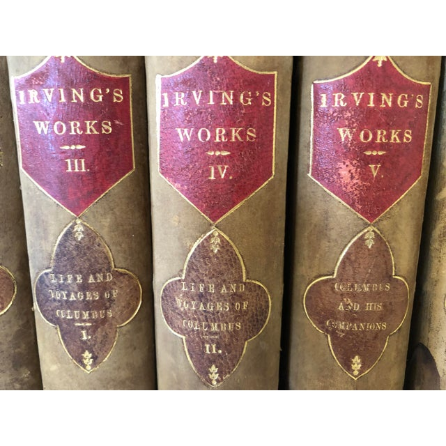 American Classical Irvings Works, 15 Volume Set, 1853 For Sale - Image 3 of 11
