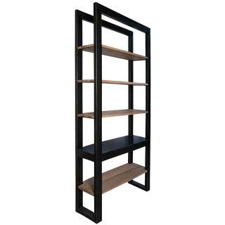 Winston Bookcase, Black Metal For Sale