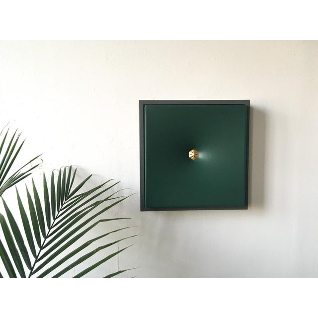 Green Topher Gent Green Contemporary Painting Wall Sculpture For Sale - Image 8 of 10