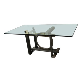 1980s Modern Design Institute of America Dining Table For Sale