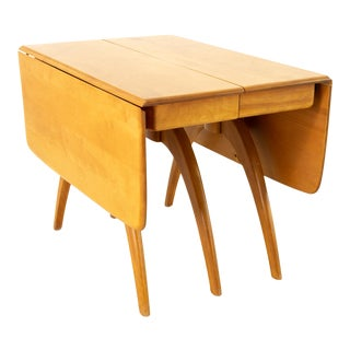 """Heywood-Wakefield Mid Century Maple """"Wishbone"""" Expanding Dining Table For Sale"""