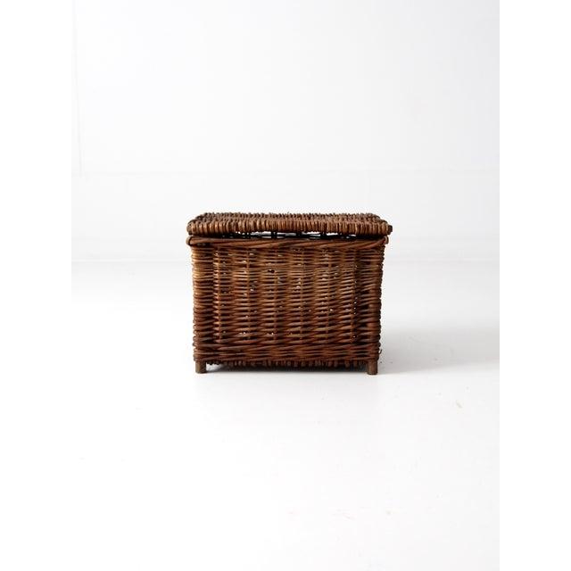 Antique Wicker Fishing Basket - Image 3 of 11