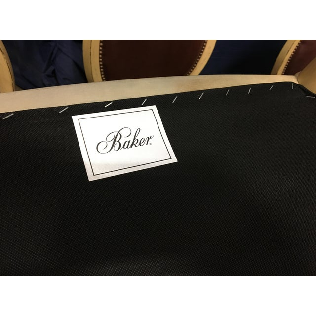 Baker Oval Back Side Chairs - Set of 10 For Sale - Image 10 of 12