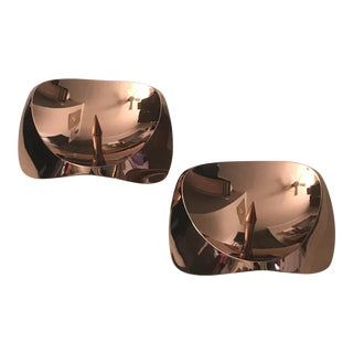 Stelton Denmark Papilio Uno Candle Holders - a Pair