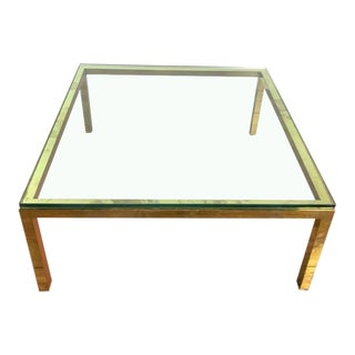 Mid-Century Modern Style Glass Top Coffee Table