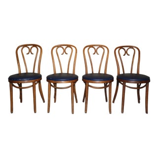 Vintage Shelby Williams Bentwood Dining Cafe Chairs - Set of 4 For Sale
