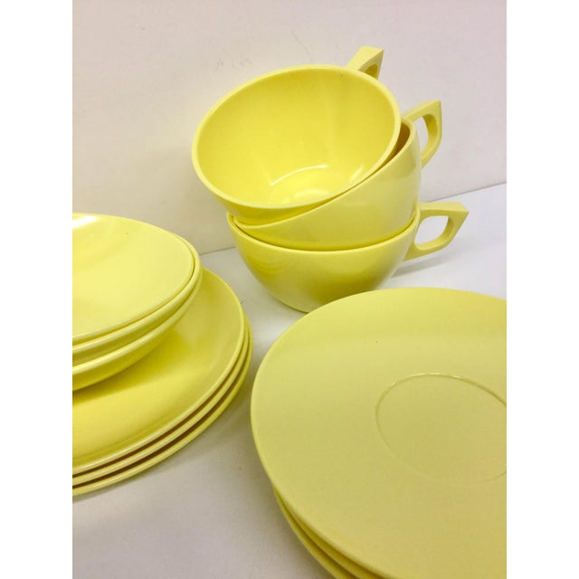 Mid-Century Modern Sun Valley Mel Mac Service for 3 Tableware - 12 Pc. For Sale - Image 3 of 11