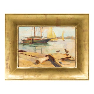'Harbor Mist' by Jonathan Scott Circa 1960, Laguna Beach Art Association, Aws, Pasadena Art Museum For Sale