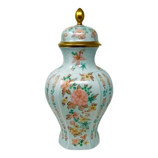 Bareuther Waldsassen Hand Painted Porcelain Ginger Jar Bavaria For Sale