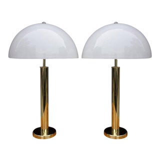 Midcentury Walter Von Nesen Lamps in Brass For Sale