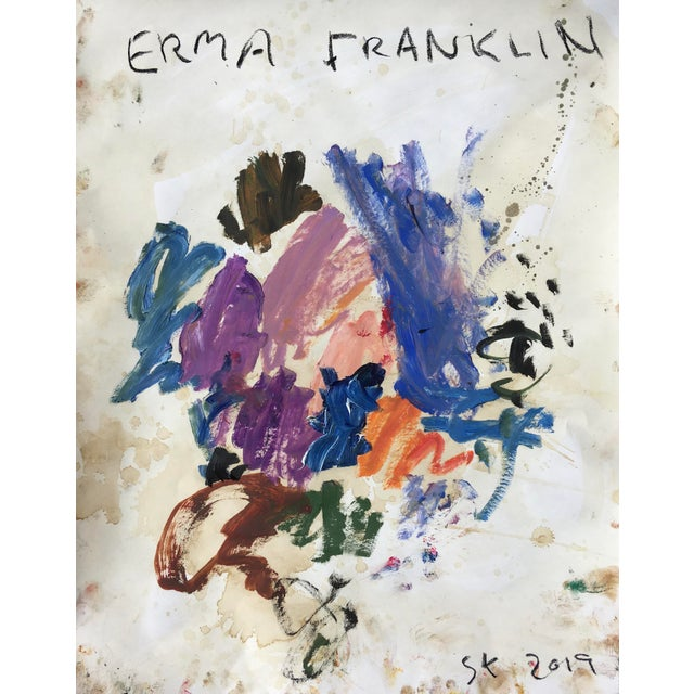 Sean Kratzert 'Erma Franklin' Abstract Oil Painting by Sean Kratzert For Sale - Image 4 of 4