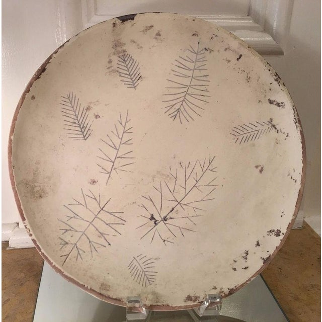 Mid-Century Modern Rare Original Sascha Brastoff Unfired Modernist Snowflake Plate Artist's Collection For Sale - Image 3 of 6