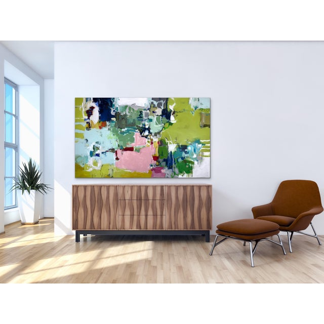 This joyful statement piece will brighten any space! Texture and Layers! Lots of textured paper is collaged among the...