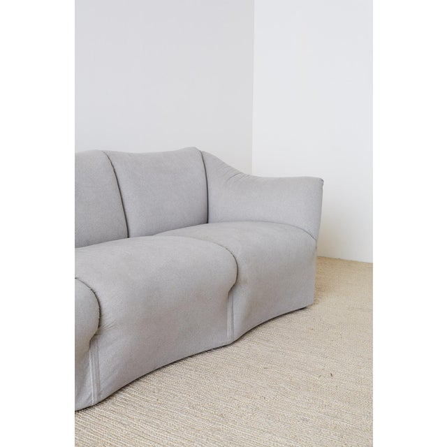 Fabric Mario Bellini for Cassina Tentazione Upholstered Sofa For Sale - Image 7 of 13