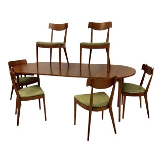 Vintage Mid Century Kipp Stuart for Drexel Furniture Dinning Set- 7 Pieces For Sale