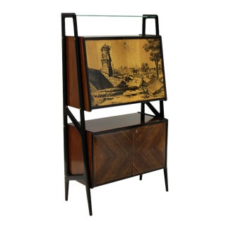 A Gio Ponti Style Bar Cabinet For Sale