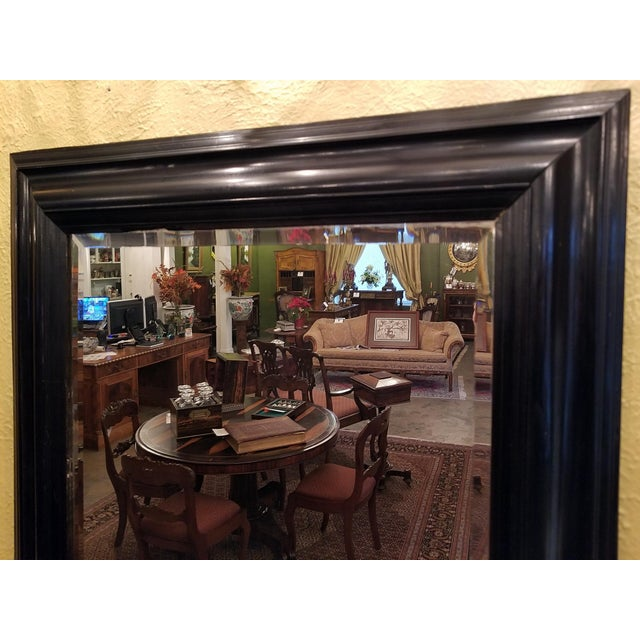 Mid 19th Century 19th Century American Ebony Mirror With Beveled Glass For Sale - Image 5 of 6