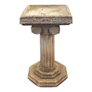English Garden Stone Bird Bath in the Classical Style For Sale
