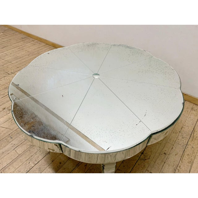 Art Deco Period French or Italian Deco Mirrored Coffee Table For Sale - Image 3 of 7