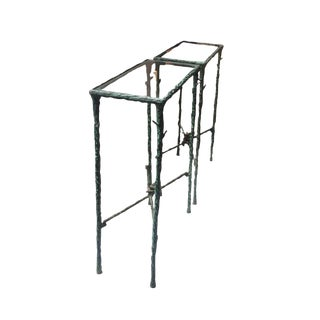 20th Century Wrought Iron Side Tables Inspired by Giacometti For Sale