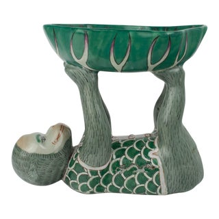 Green Chinoiserie Monkey Tray