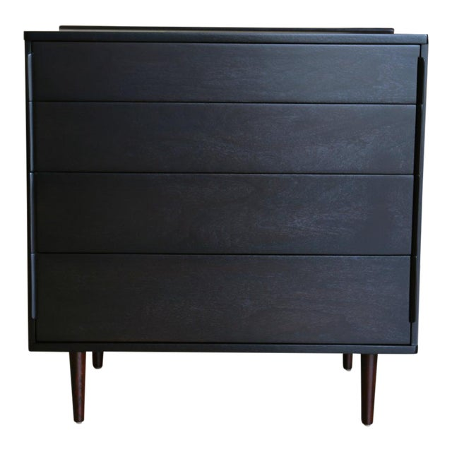 Mid 20th Century Mid-Century Modern Edward Wormley for Dunbar Four-Drawer Ebony Rosewood Chest For Sale - Image 5 of 5