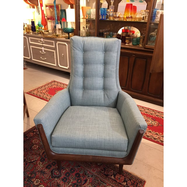 Restored Adrian Pearsall High Back Chair - Image 2 of 4