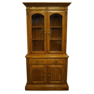 Temple Stuart Oak Hill Collection Country French China Cabinet For Sale