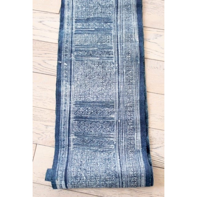 A gorgeous handwoven hemp vintage batik fabric from Chiang Mai. The hemp fabric has been dyed with natural indigo. This...