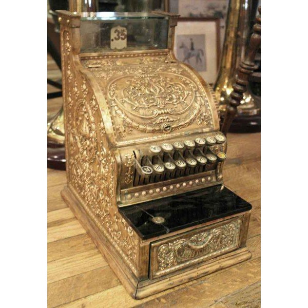 Antique Bronze Cash Register - Image 2 of 4