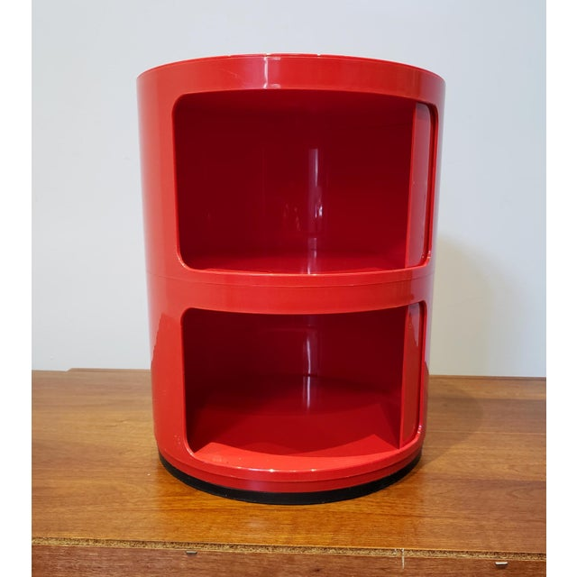 Kartell Vintage Kartell Componibili Two-Tier Cabinet Side Table For Sale - Image 4 of 11