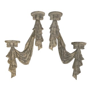 Plaster Swag Wall Brackets - a Pair