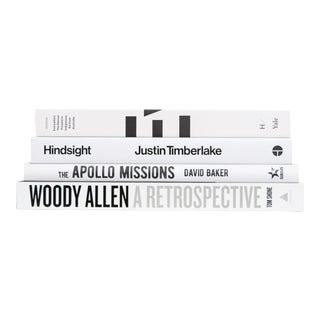Modern White & Black ColorStak, Set of 4 For Sale