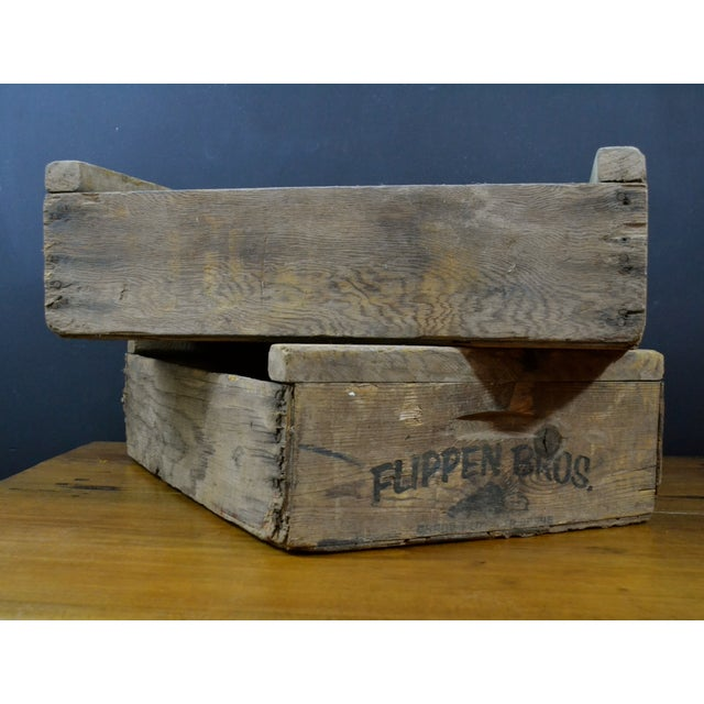 Flippen Bros. Wooden Fruit Crates - A Pair - Image 2 of 7