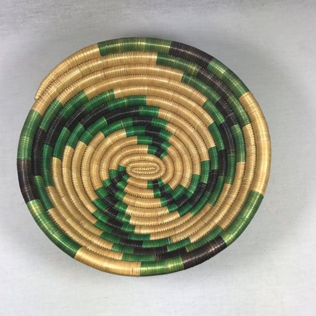 Handmade African Grass Basket - Image 3 of 11