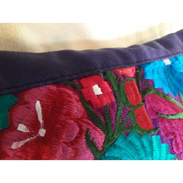 Mexican Handmade Embroidered Pillow Cover For Sale - Image 4 of 6