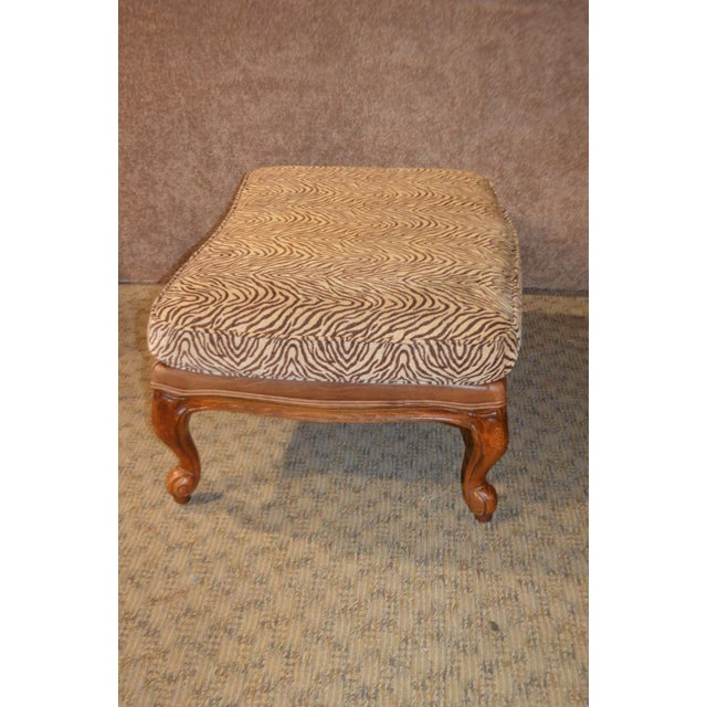 Ethan Allen Multi Fabric Oversized Chair & Ottoman For Sale - Image 10 of 13
