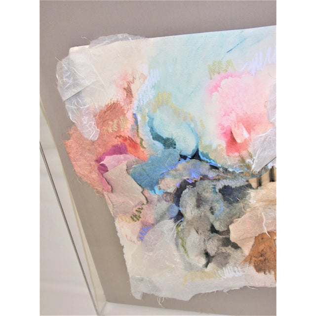 White Mixed Media 3-D Fine Art in Lucite Box Frame Signed by Sherry Andrens Owen For Sale - Image 8 of 13